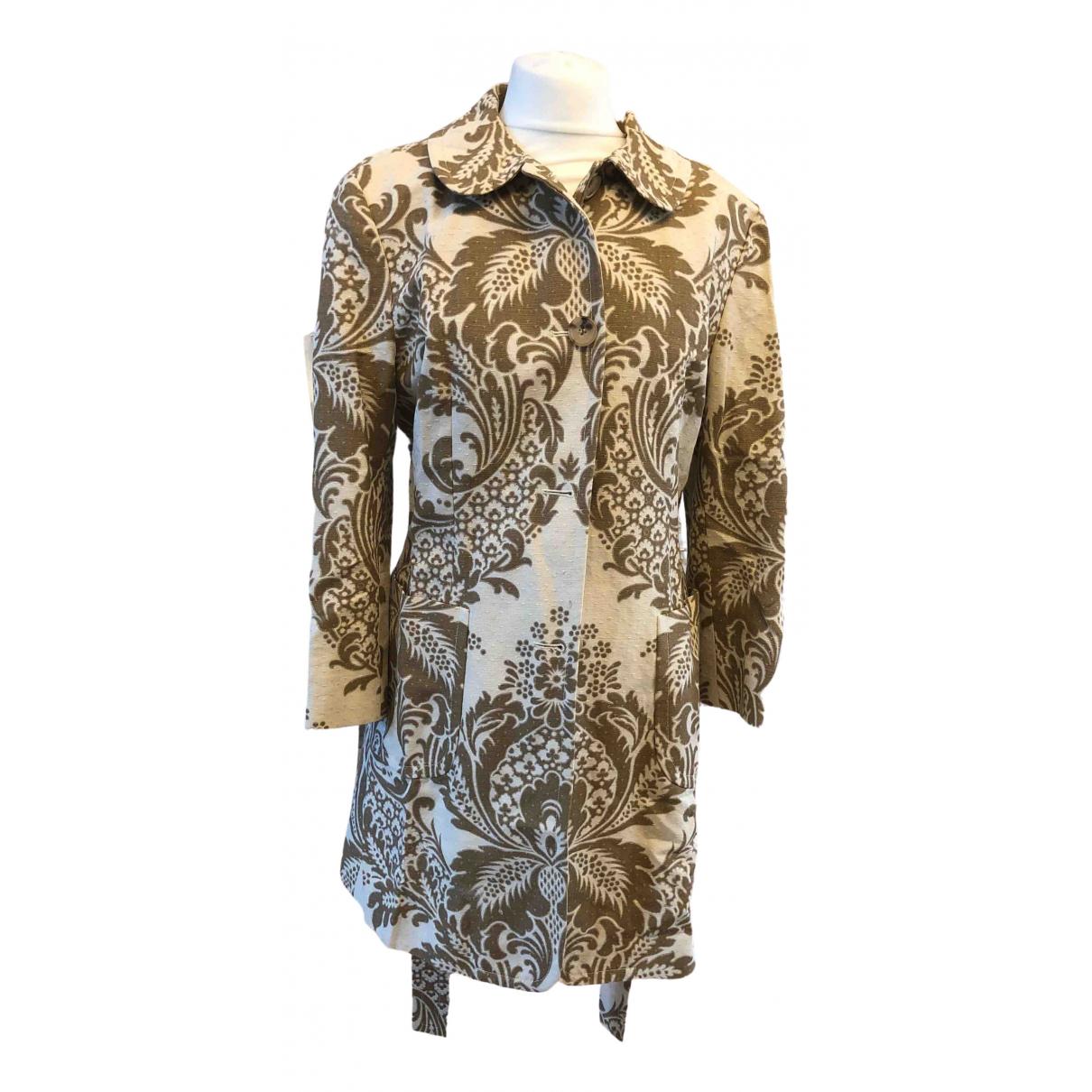 Dkny \N Beige Linen coat for Women 10 US