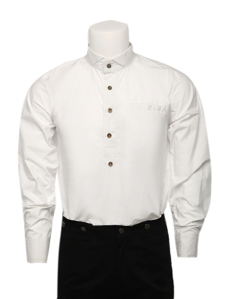 Milanoo Men's Vintage Costume Victorian White Shirt Retro Costume Top Halloween