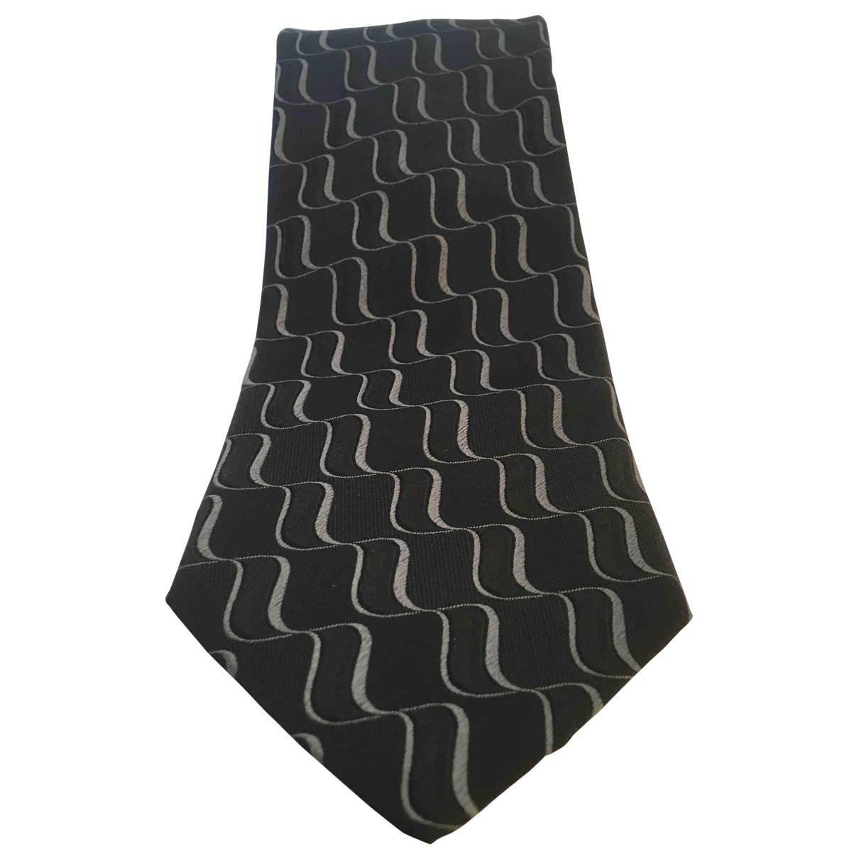 Giorgio Armani \N Black Silk Ties for Men \N