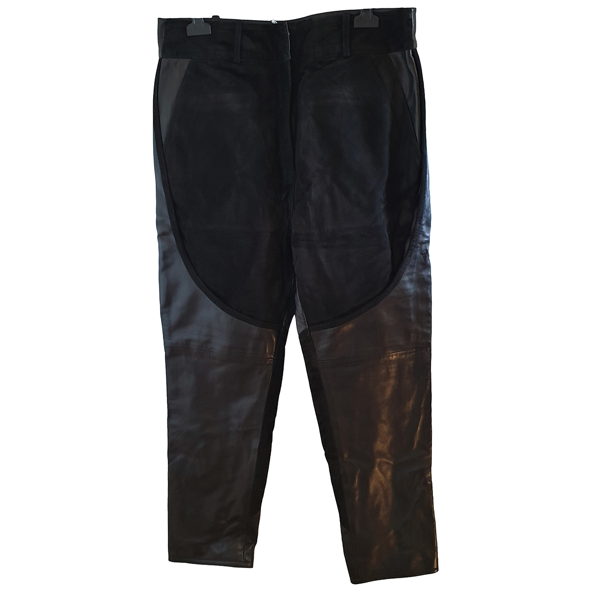 Givenchy \N Black Leather Trousers for Women 42 IT