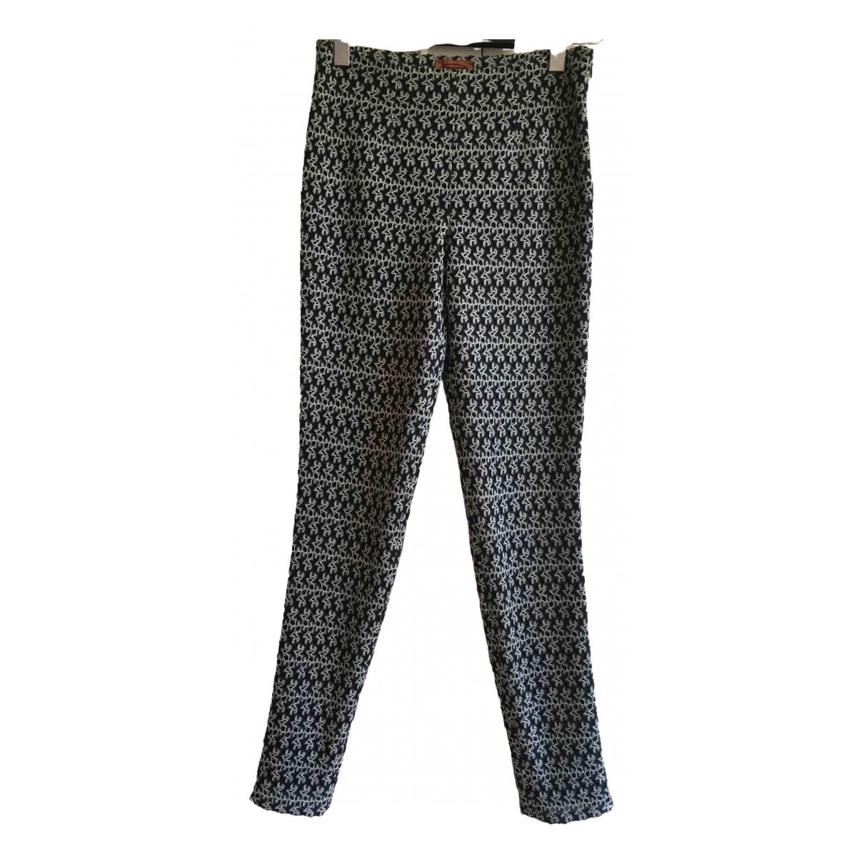 Missoni \N Black Wool Trousers for Women 42 IT