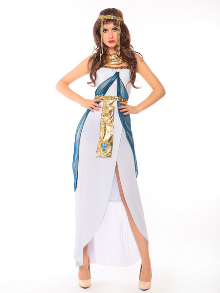 Milanoo Egyptian Queen Costume Cleopatra Halloween Women Dresses Outfit