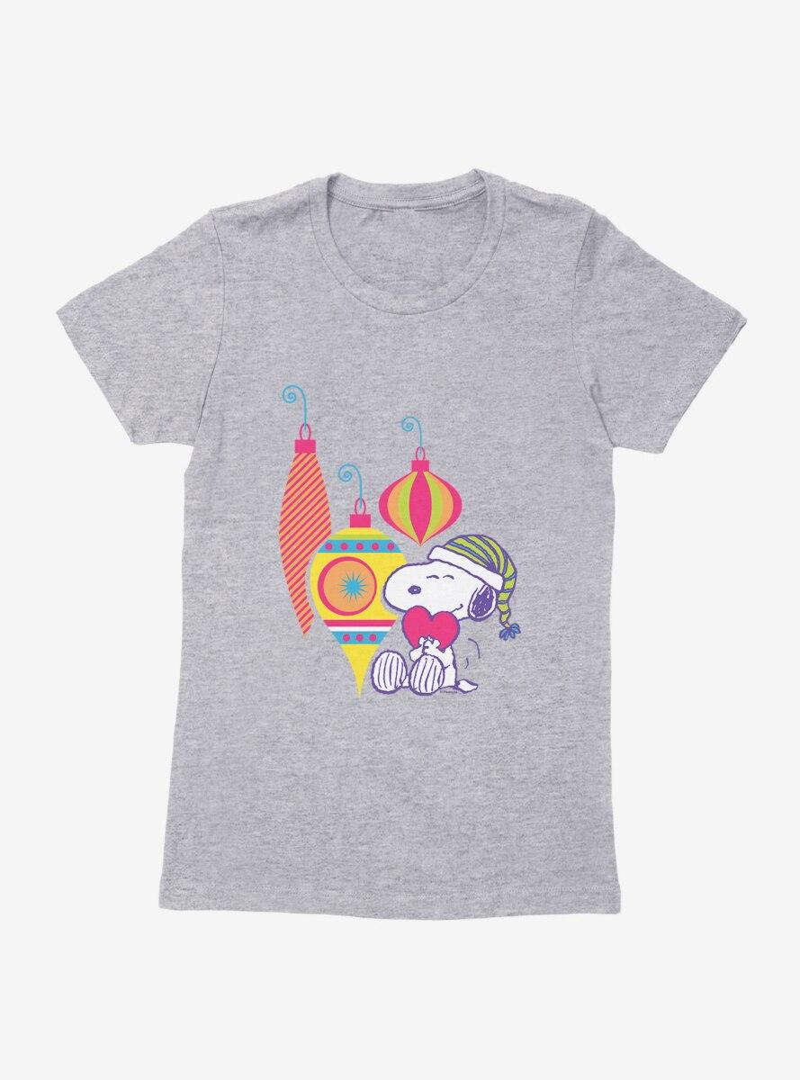 Peanuts Retro Pop Snoopy Christmas Ornaments Womens T-Shirt
