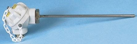 Correge 3 wire PT100 Sensor, 0°C min +450°C max, 350mm Probe Length x 6mm Probe Diameter