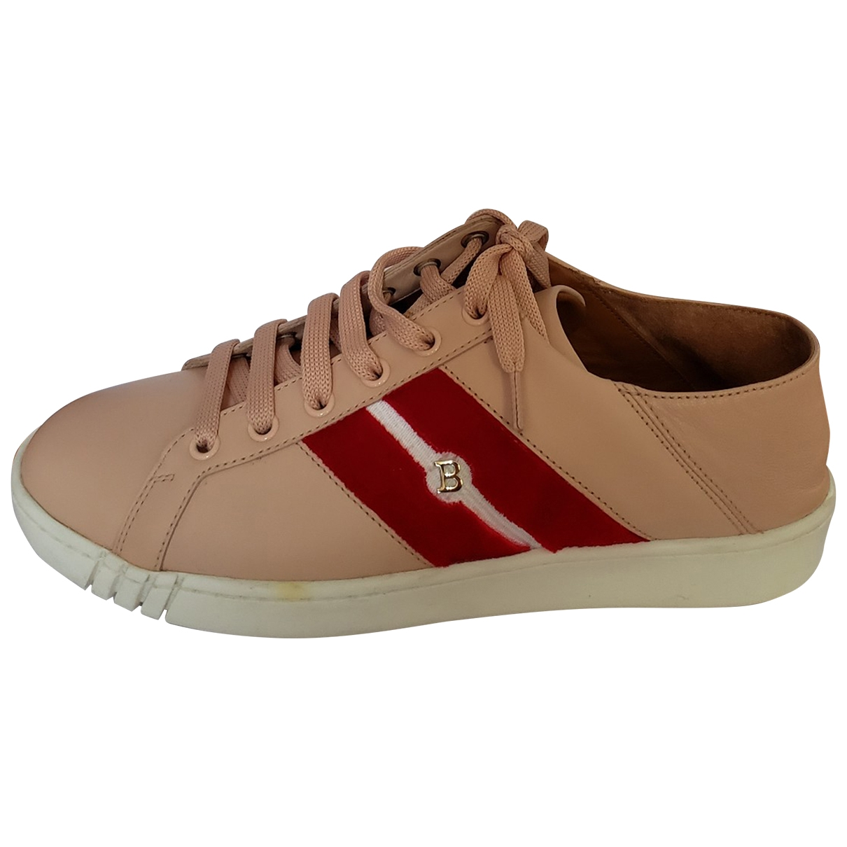 Bally \N Pink Leather Trainers for Women 7.5 US