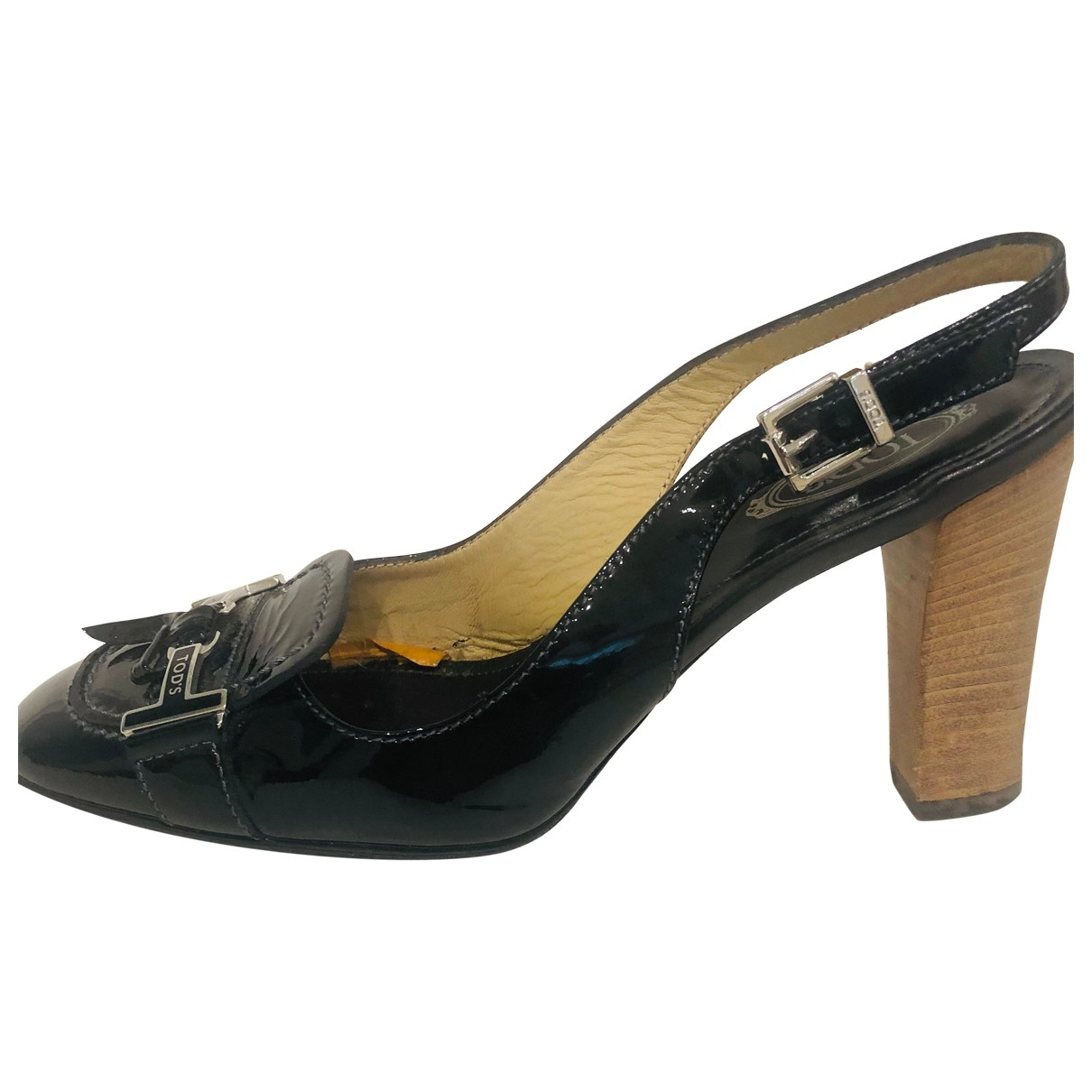 Tod's \N Black Patent leather Heels for Women 36.5 EU
