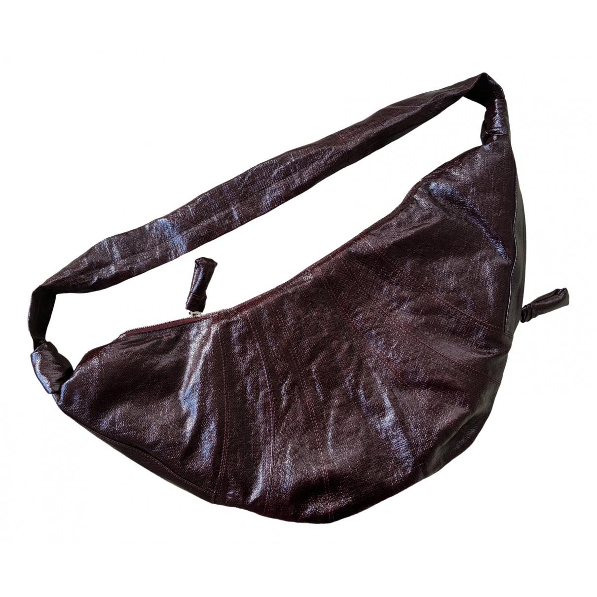 Lemaire \N Burgundy Linen handbag for Women \N