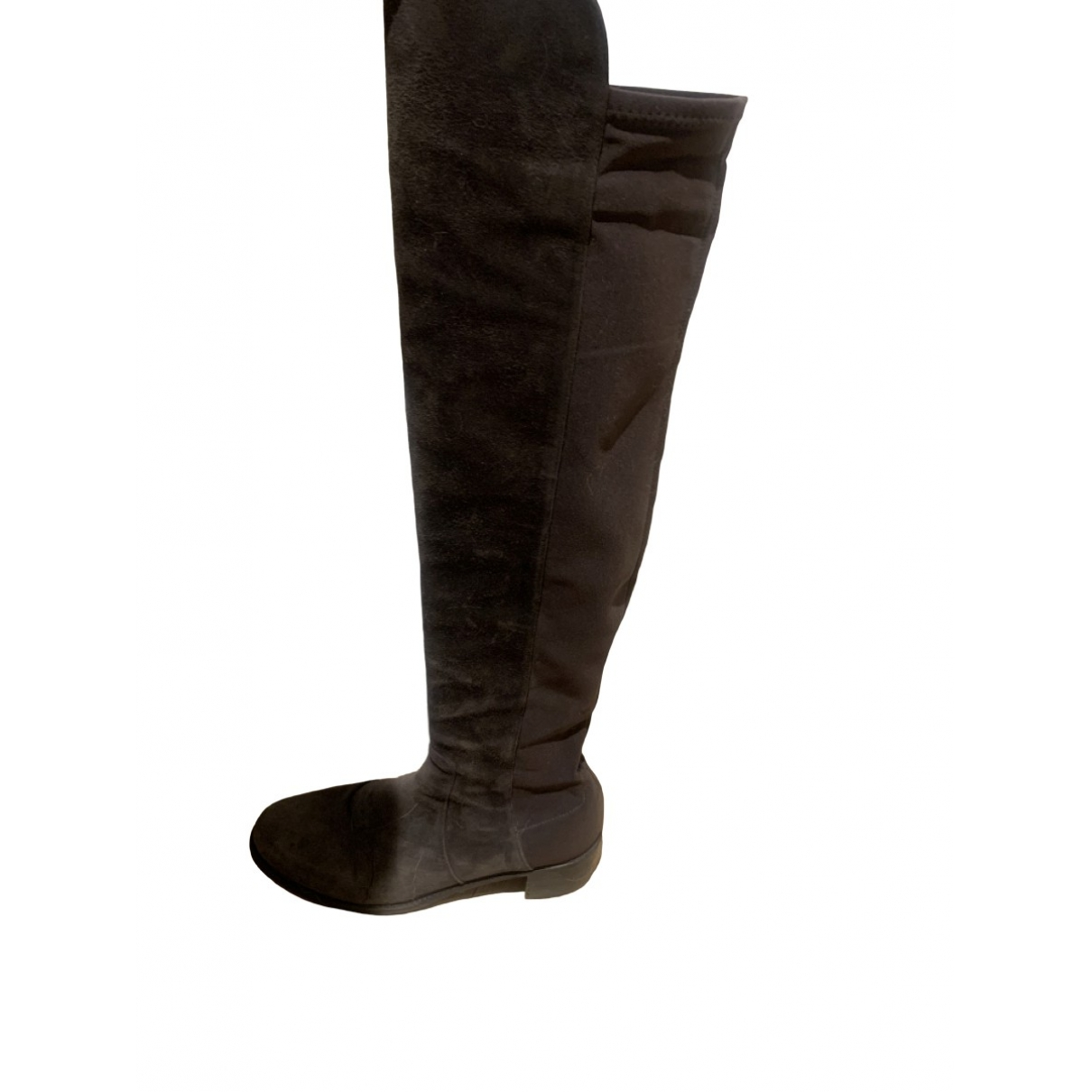 Stuart Weitzman \N Grey Faux fur Boots for Women 39 EU