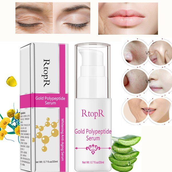 Gold Polypeptide Face Essence Moisturizing Whitening Repair Skin Anti-Aging Essence Face Care