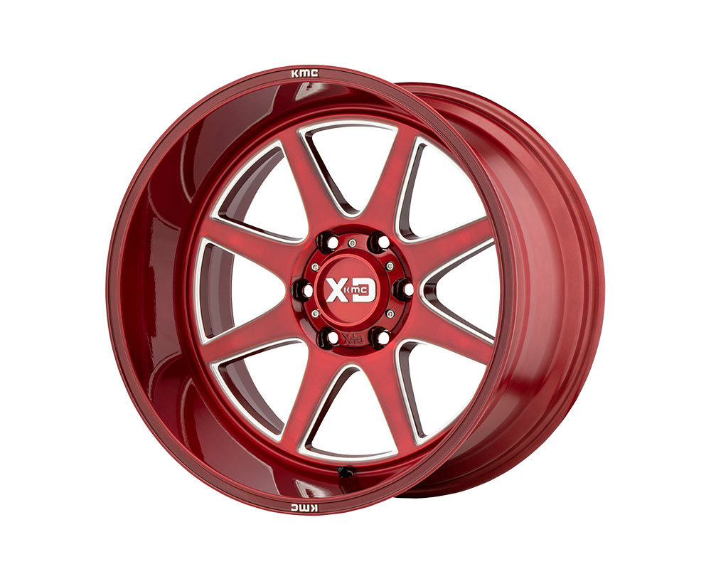 XD Series XD84429088918 XD844 Pike Wheel 20x9 8x8x180 +18mm Brushed Red w/Milled Accent