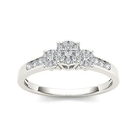 1/3 CT. T.W. Diamond 10K White Gold Engagement Ring, 7 1/2 , No Color Family