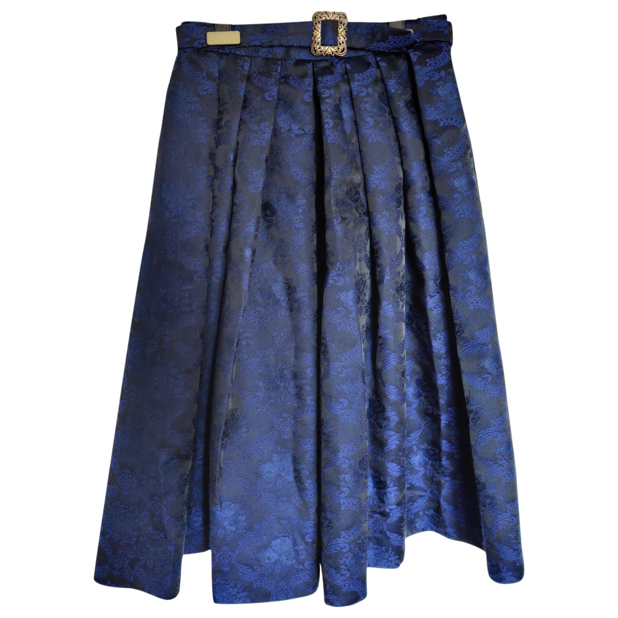 Non Signé / Unsigned \N Blue Cotton skirt for Women 42 IT