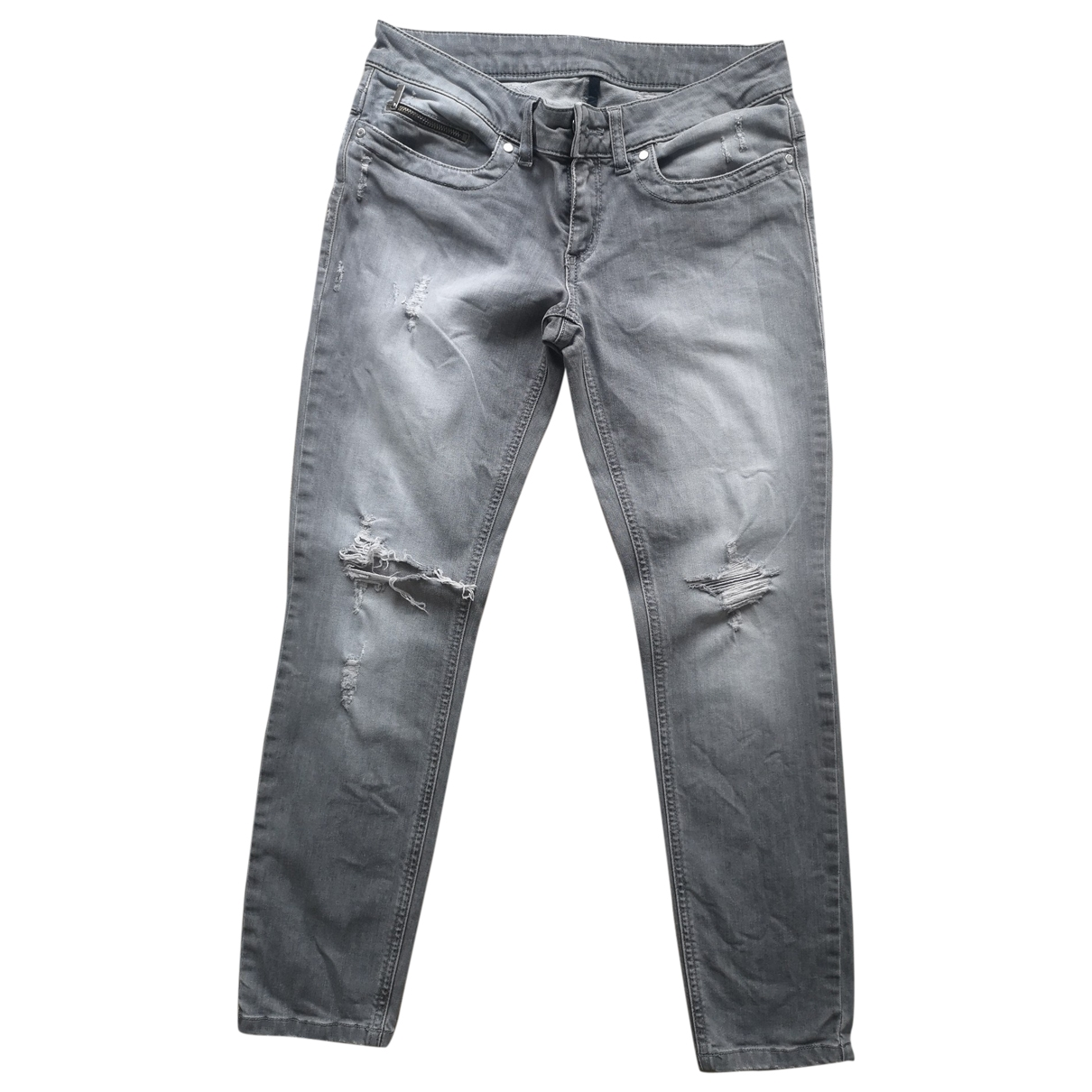 Dirk Bikkembergs \N Grey Cotton - elasthane Jeans for Women 28 US