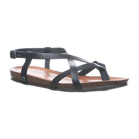 Bearpaw Womens Lucia Flat Sandals, 7 Medium, Brown