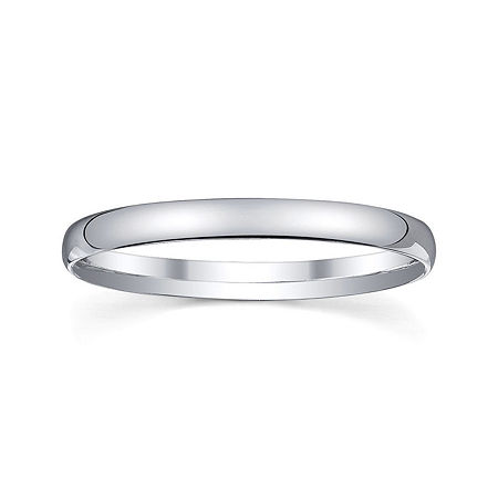 Personalized 2mm Comfort Fit Domed Sterling Silver Wedding Band, 8 , No Color Family