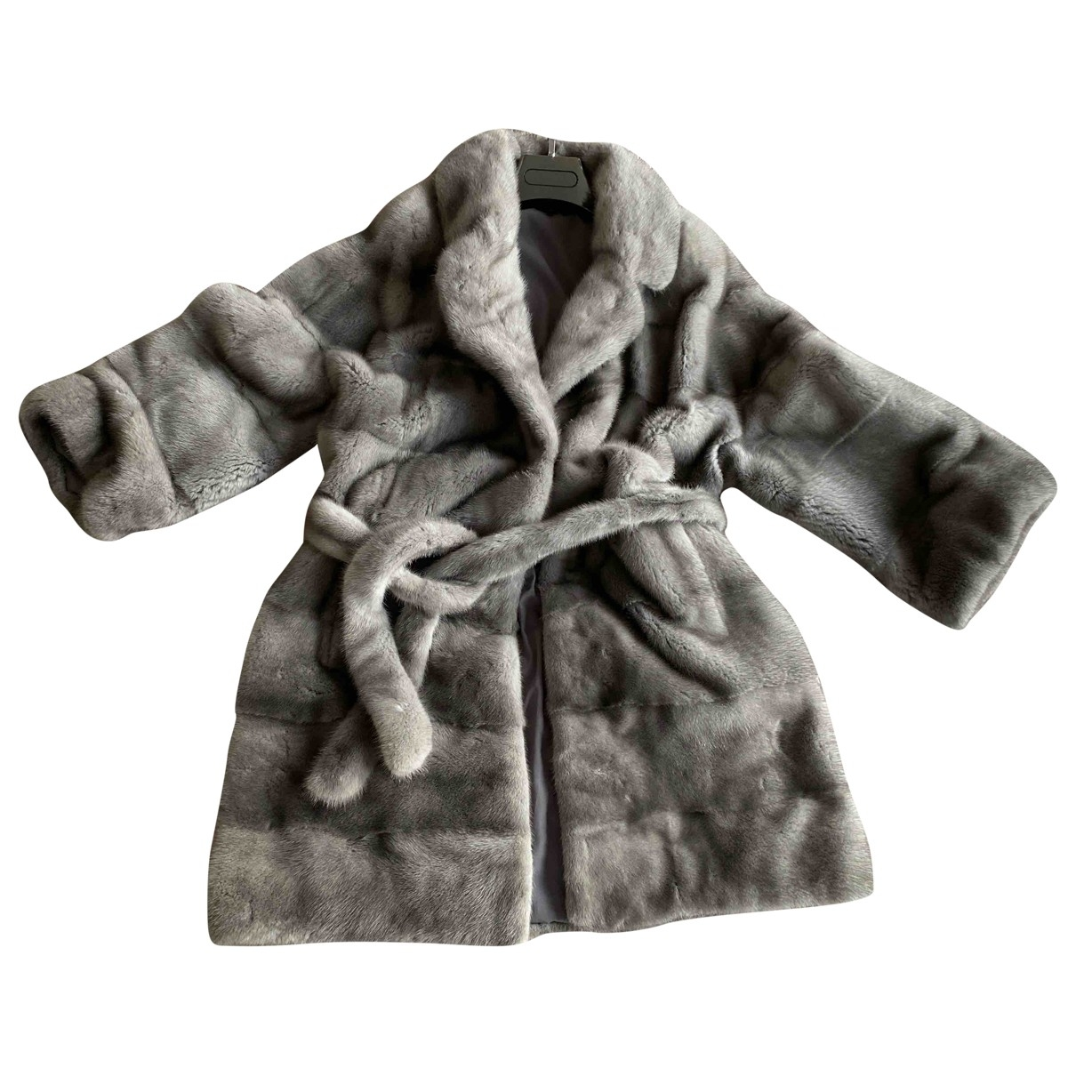 Non Signé / Unsigned Oversize Grey Mink coat for Women 36 FR