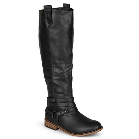 Journee Collection Womens Walla Riding Boots, 8 1/2 Medium, Black