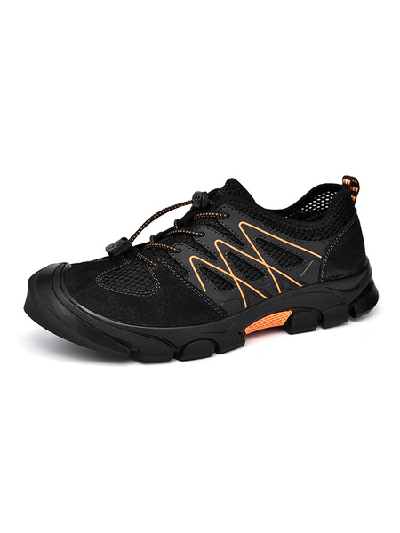 Milanoo Mens Sneakers 2020 Cosy Round Toe Tie Up Athletic Casual Mens Shoes