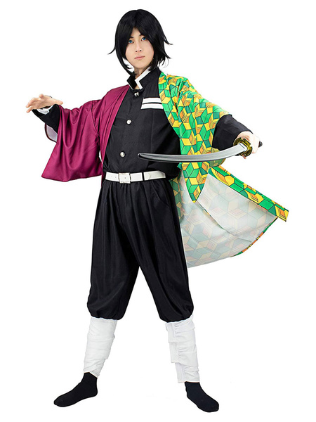 Milanoo Demon Slayer Kimetsu No Yaiba Tomioka Giyuu Kimono Only Anime Cosplay Costume