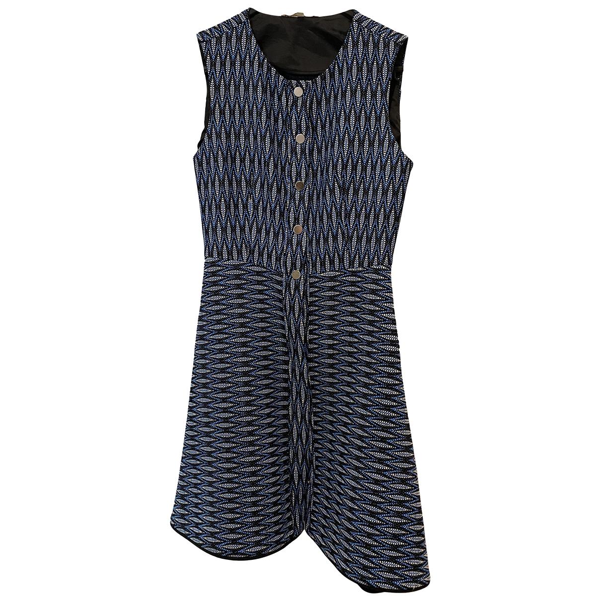 Sandro \N Blue Cotton - elasthane dress for Women 36 FR