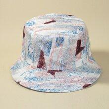 Men Color Block Bucket Hat