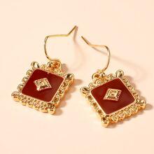 Oil Drop Geometric Earrings