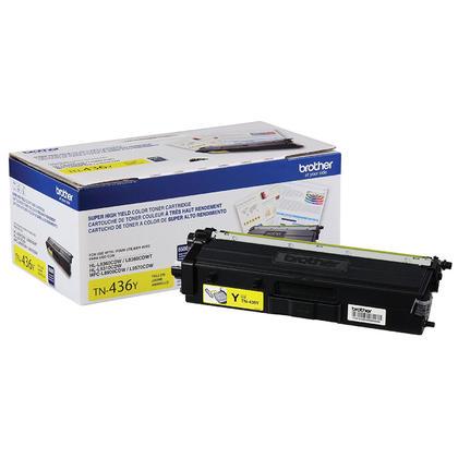 Brother TN436Y cartouche de toner originale jaune extra haute capacité 6500 pages