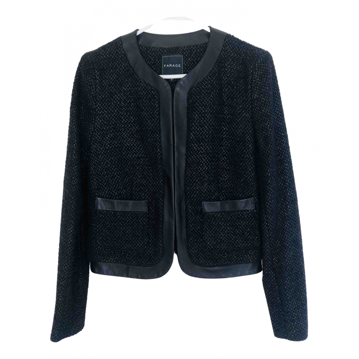 Non Signé / Unsigned \N Black Tweed jacket for Women S International