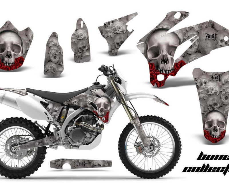 AMR Racing Dirt Bike Graphics Kit Decal Wrap For Yamaha WR250F 2007-2014 WR450F 2007-2011áBONES SILVER
