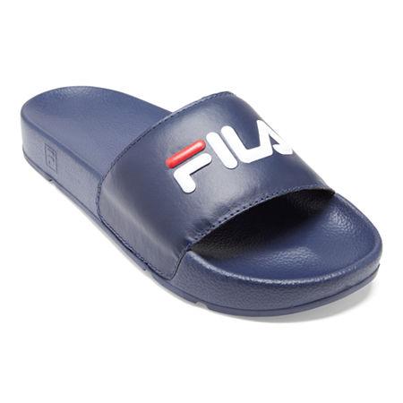 Fila Womens Drifter Slide Sandals, 10 Medium, Blue