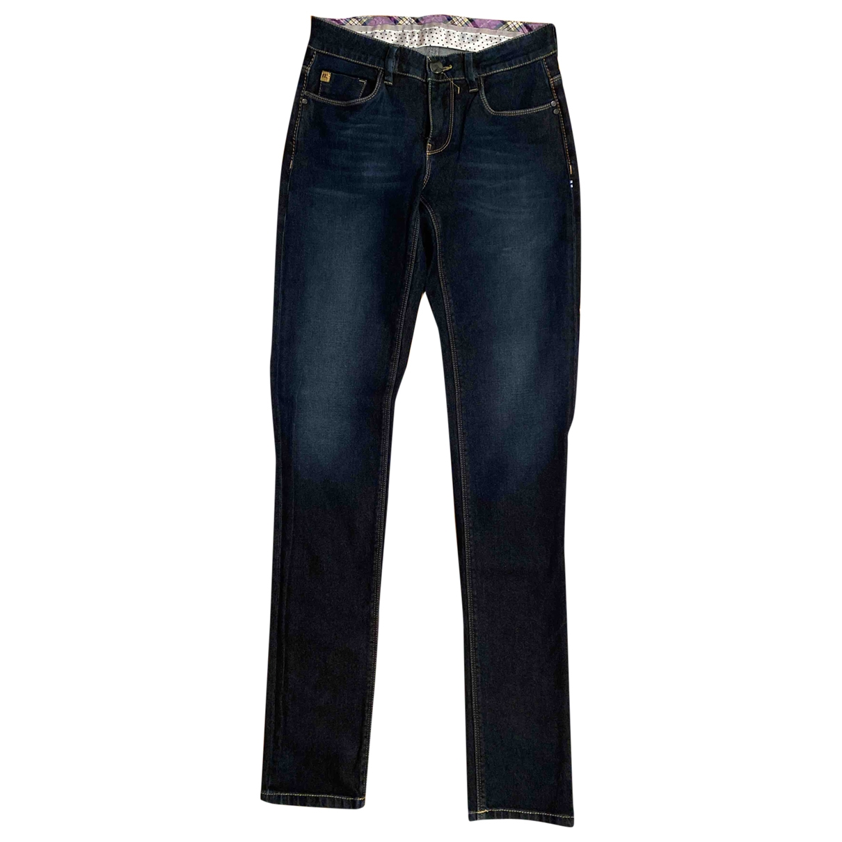 Non Signé / Unsigned \N Blue Cotton Jeans for Women 26 US