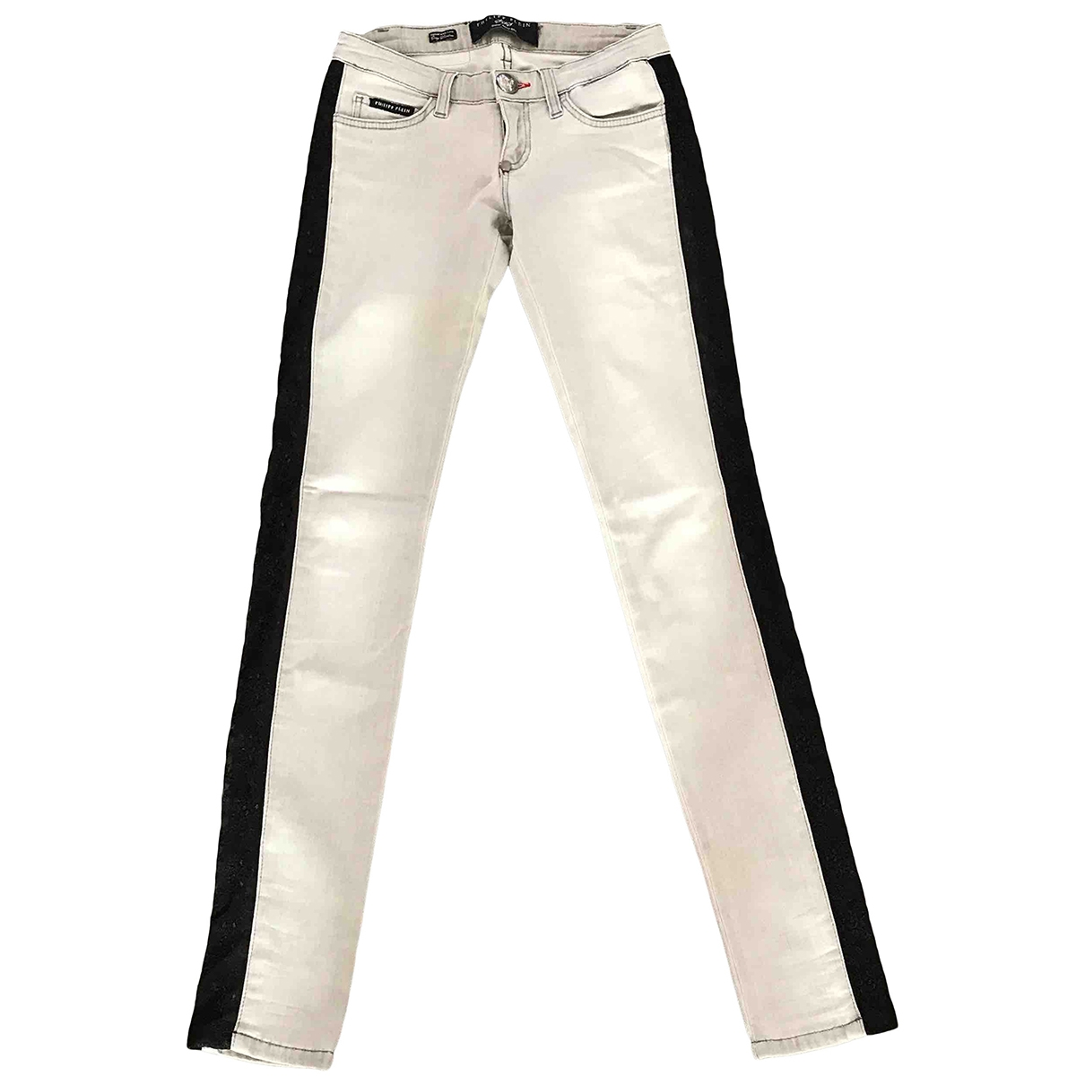 Philipp Plein \N Cotton Trousers for Women 40 IT