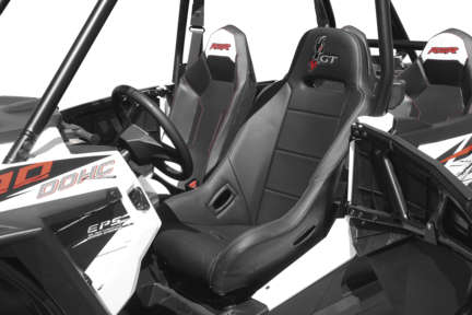 DragonFire 15-1102 Highback GT Seat Black Polaris RZR XP 4 1000 14-16