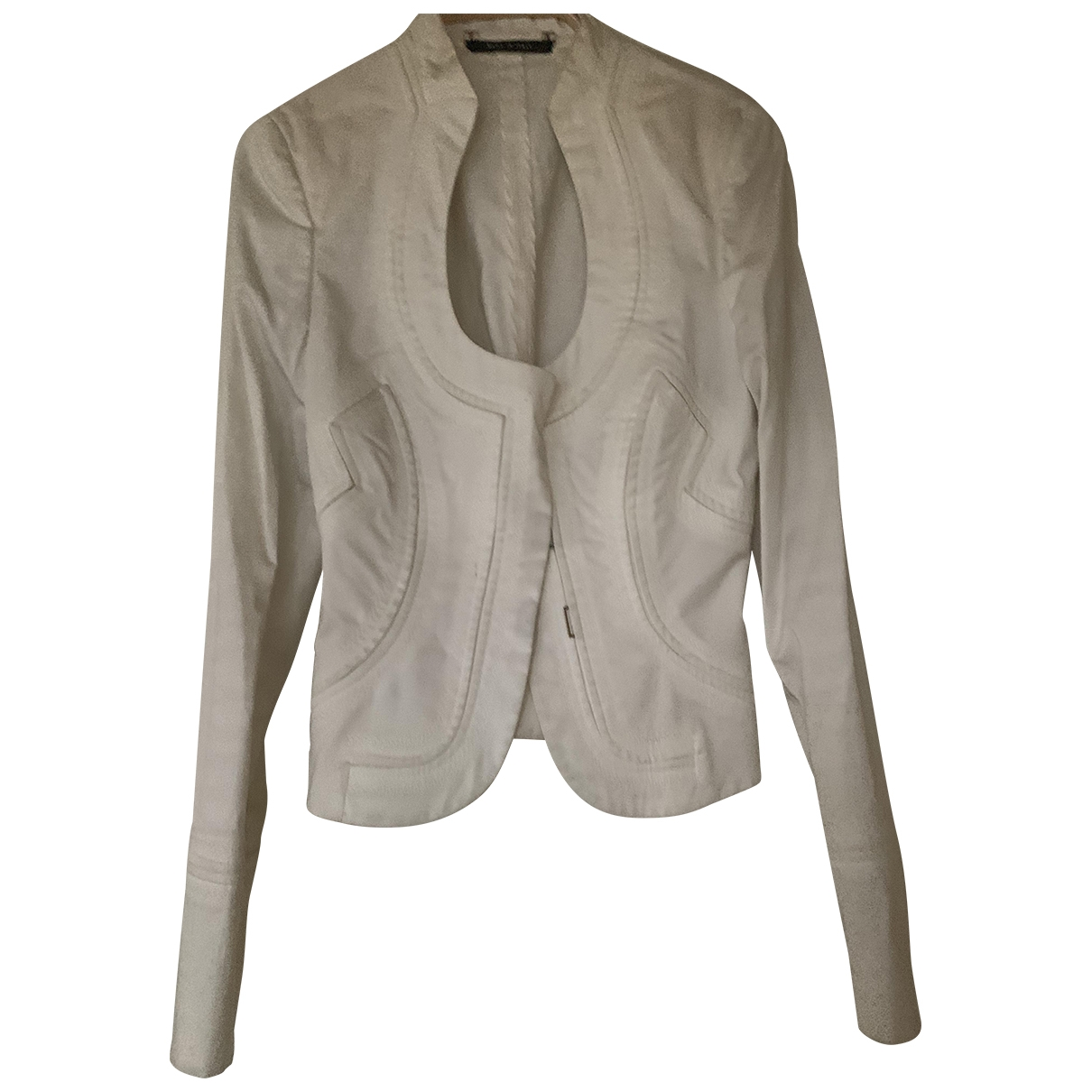 Gucci \N White Cotton jacket for Women 40 IT