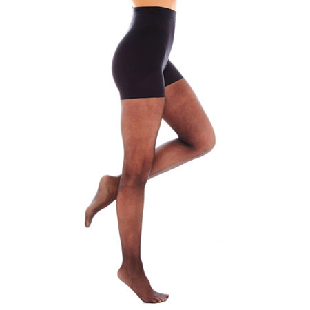 Hanes Powershapers Firm Control Sheer Pantyhose, X-large , Black