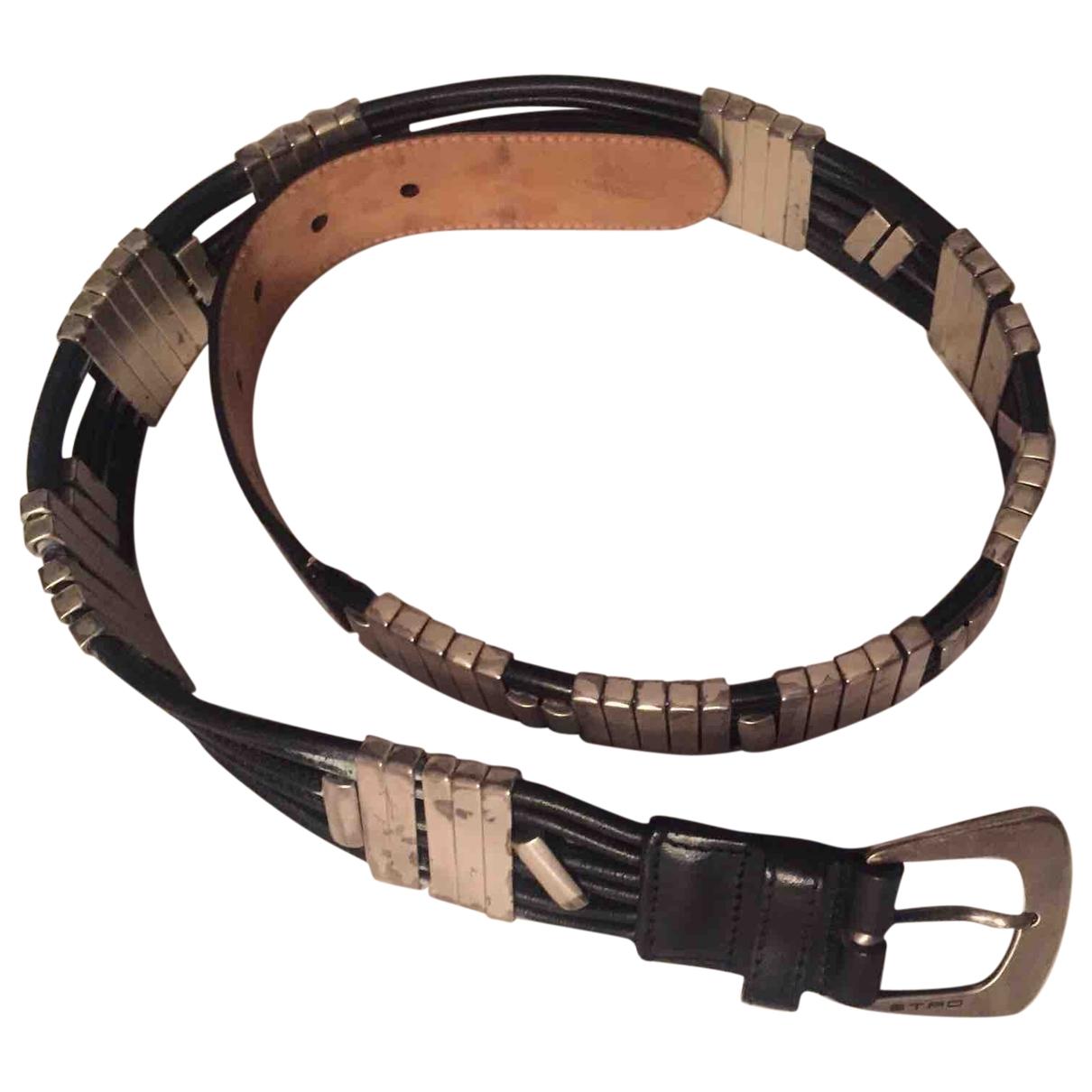 Etro \N Black Leather belt for Women M International