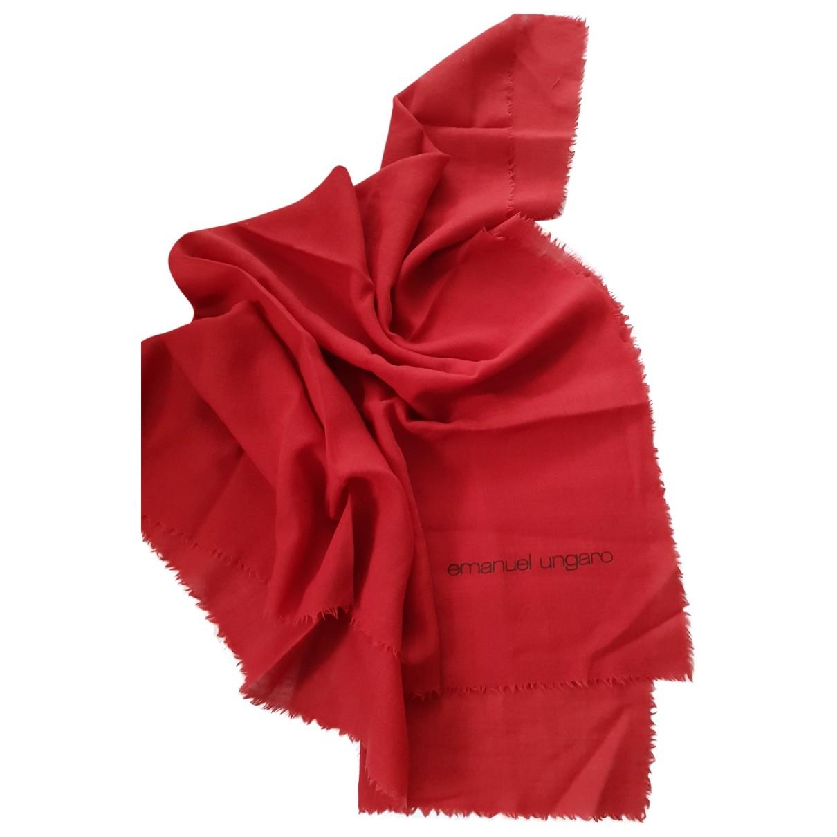 Emanuel Ungaro \N Red scarf for Women \N
