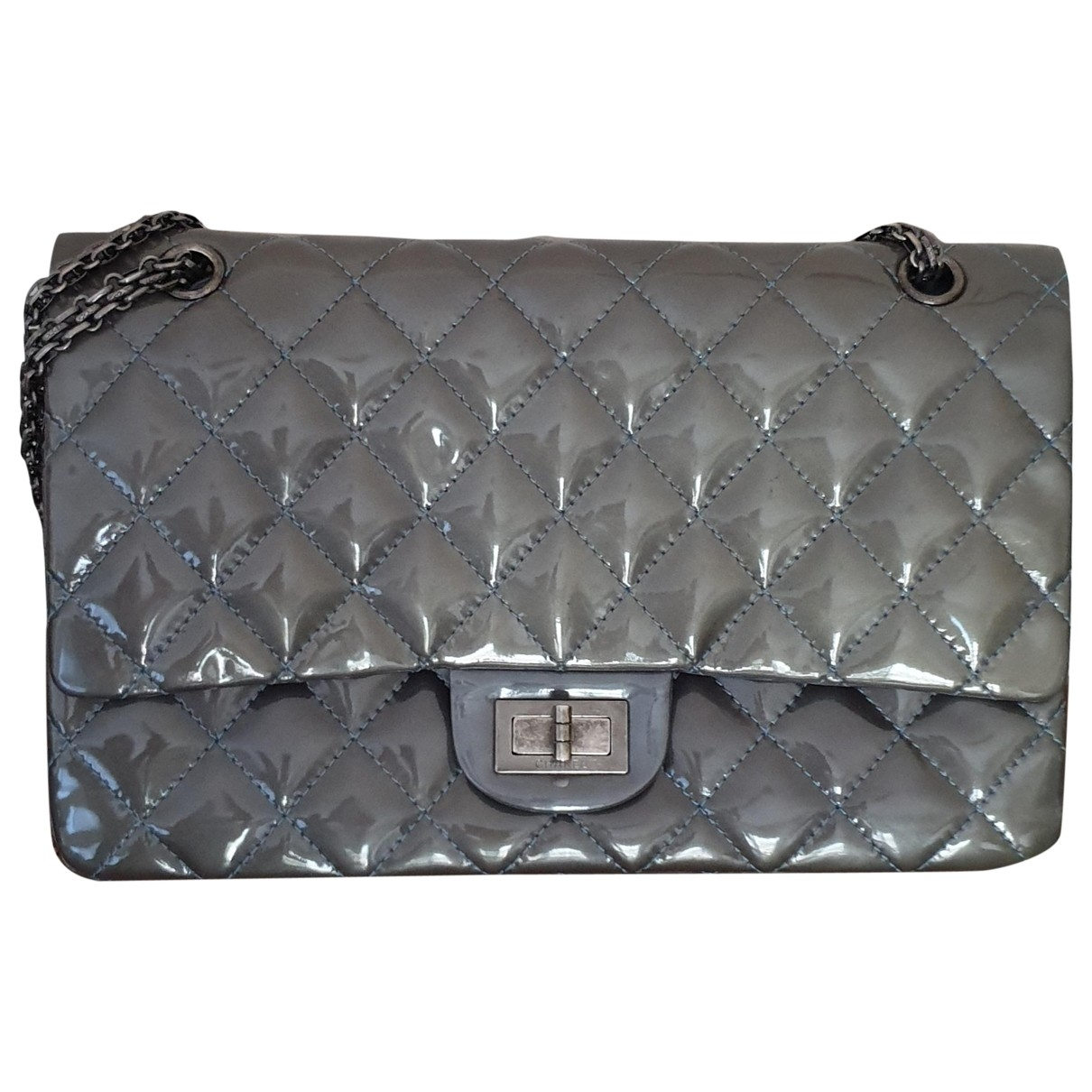 Chanel Timeless/Classique Grey Patent leather handbag for Women \N