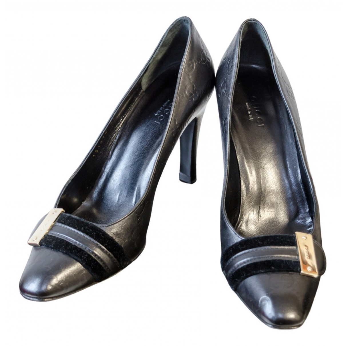 Gucci \N Black Leather Heels for Women 36 IT