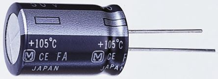 Panasonic 1200μF Electrolytic Capacitor 10V dc, Through Hole - EEUFM1A122 (5)