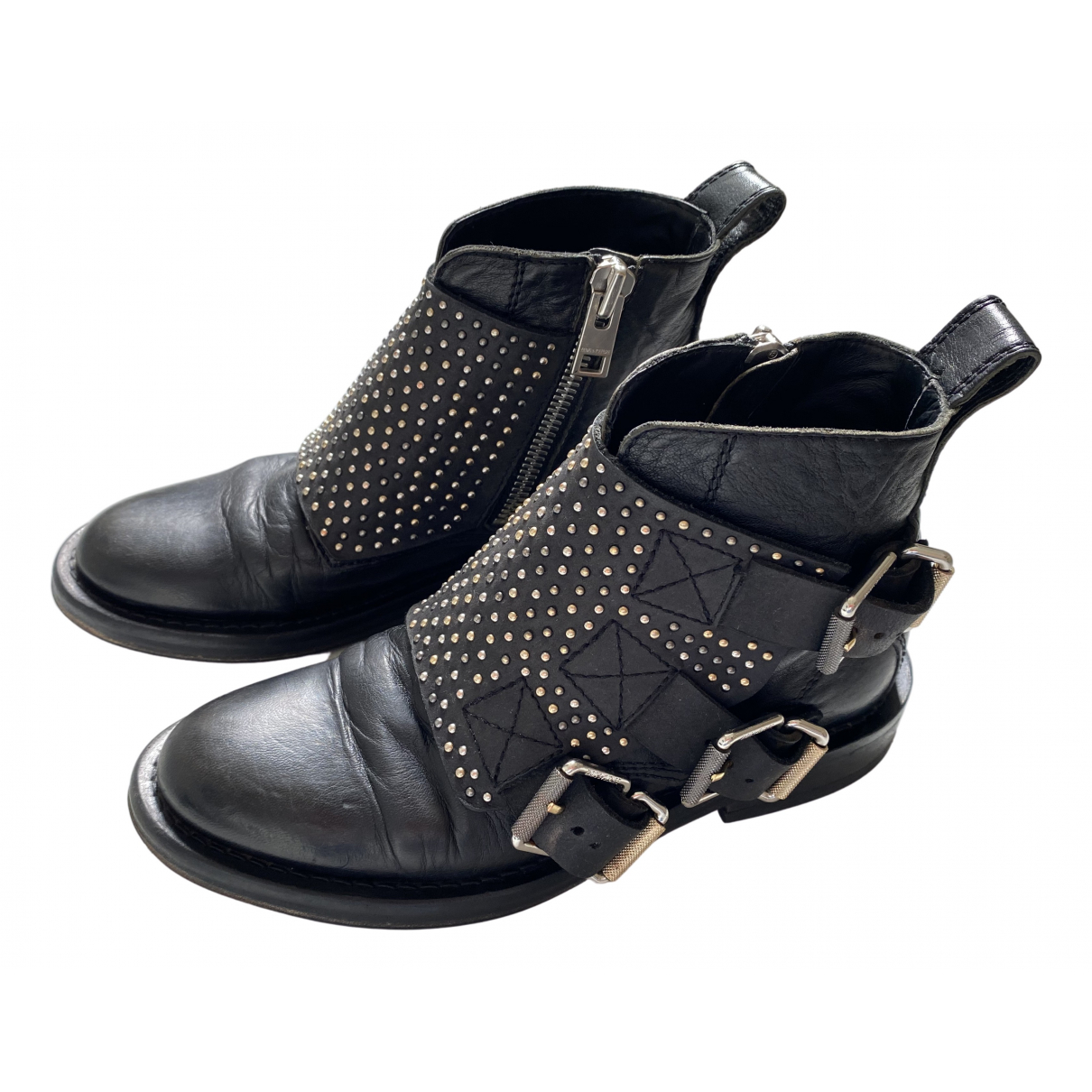 Zadig & Voltaire \N Black Leather Boots for Women 37 EU