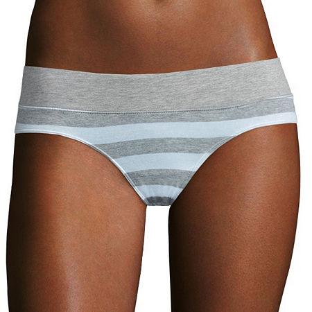 Flirtitude Knit Hipster Panty, Small , Gray