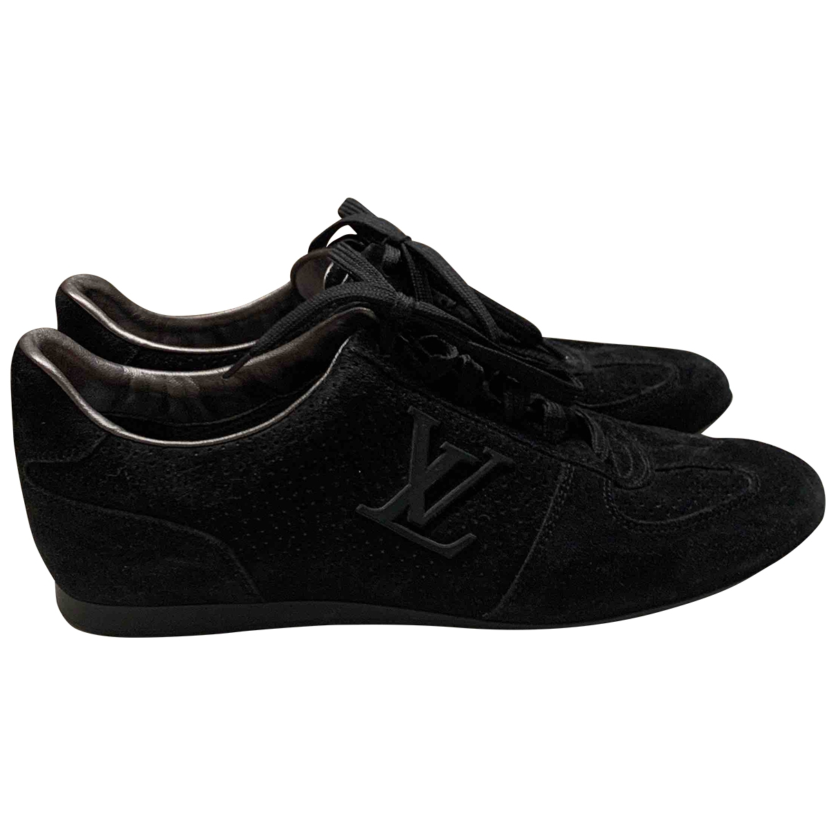 Louis Vuitton \N Black Suede Trainers for Women 37 EU