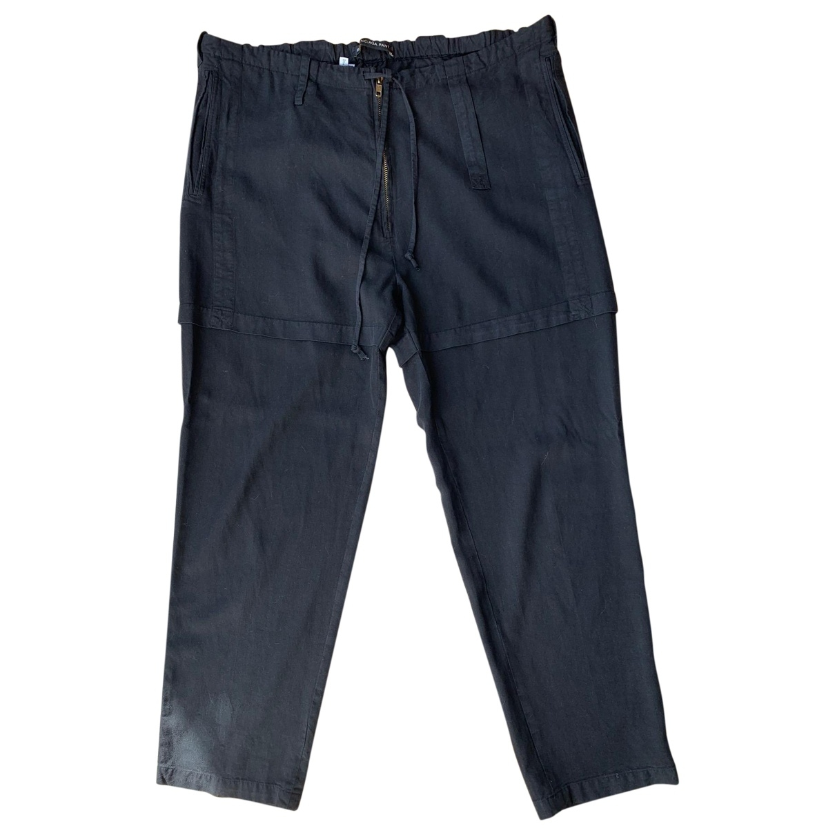 Balenciaga \N Black Trousers for Women 40 IT