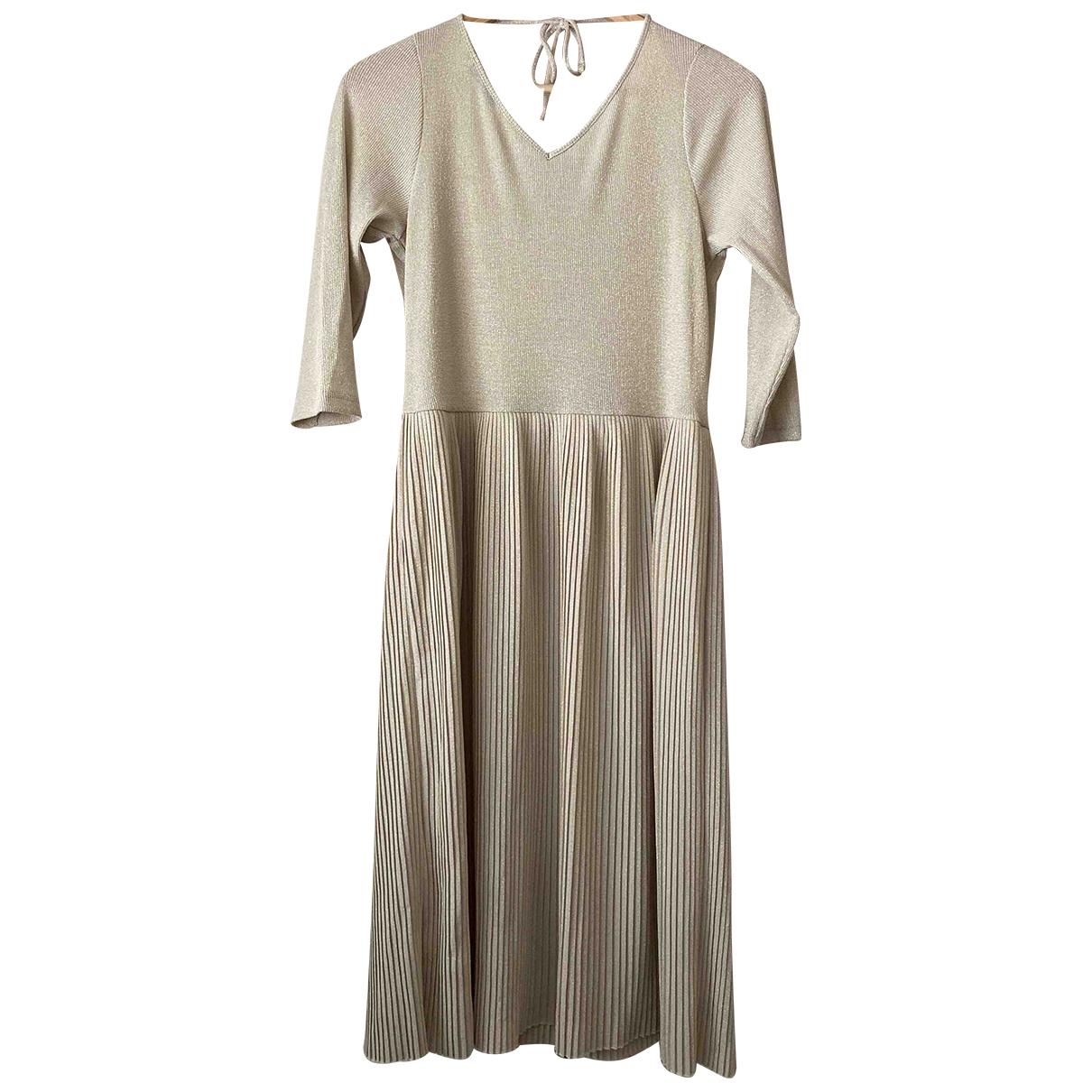 Mango \N Gold dress for Women M International