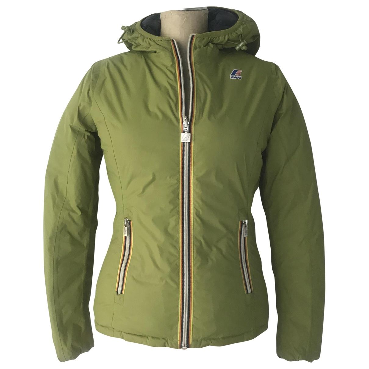 K-way \N Green jacket for Women 38 IT