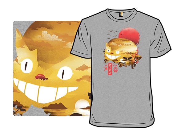 Sunset Catbus T Shirt