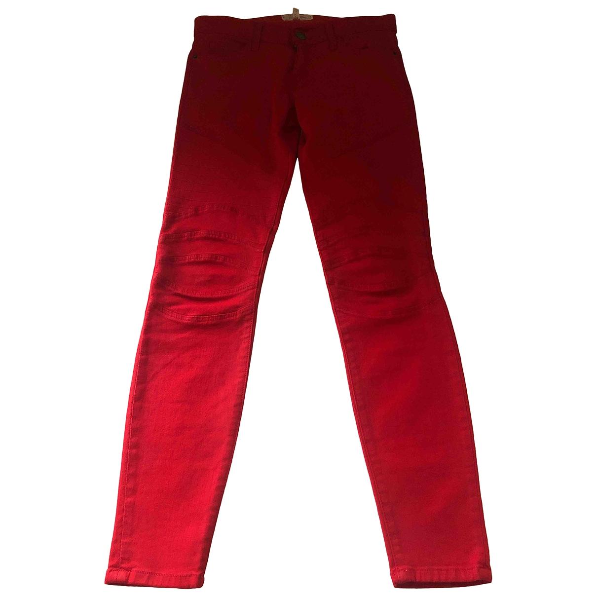 Current Elliott \N Red Cotton - elasthane Jeans for Women 27 US
