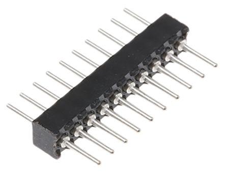Preci-Dip , 10 Way, 1 Row, Straight PCB Header Pin (5)