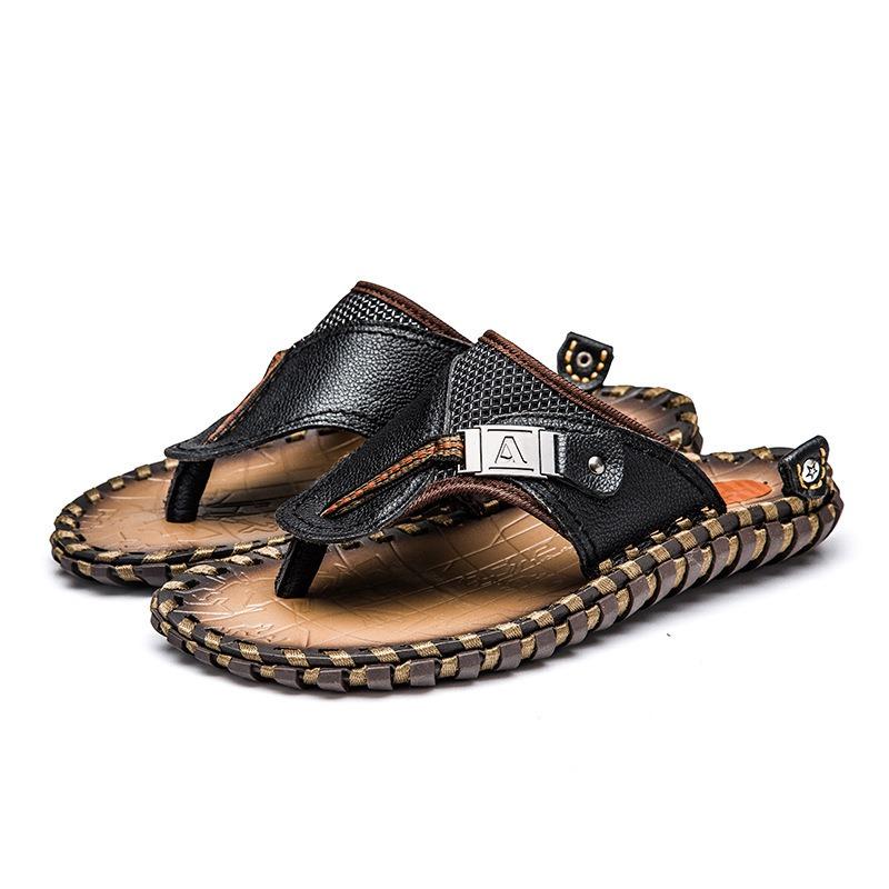 Ericdress PU Thong Slip-On Men's Slippers
